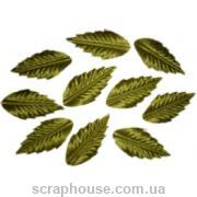 Листики зеленые удлиненные текстильные