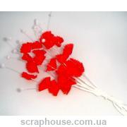 Веточки с колокольчиками красные