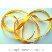 Лента атлас желто-золотистая