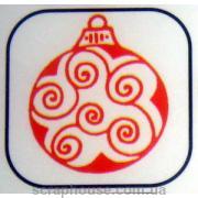 Штамп резиновый Елочный шар