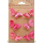 Набор бабочек розовые