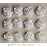 Самоклейки розы белые
