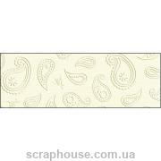 Картон дизайнерский с тиснением Узор Огурцы цвета слоновой кости