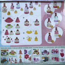 Декоративные пасхальные курочки и цыплята, набор для творчества из 6-ти листов 30х30 см.