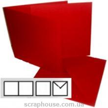 Заготовка для открытки квадратная бордо