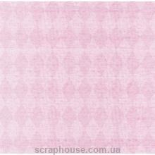 Бумага для скрапбукинга URSUS Ромбы розовые