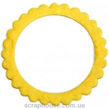 Рамка для фото круглая желтая