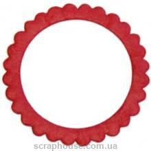 Рамка для фото круглая красная