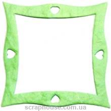 Рамка для фото квадратная изогнутая салатовая