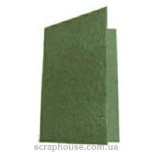 Заготовка для открытки зеленая