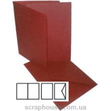 Заготовка для открытки бордо, размер 10,5х15 см