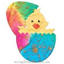 Аппликация Цыпленок в пасхальном яйце