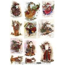 Декупажная карта Новый Год Дед Мороз - самые красивые карты!