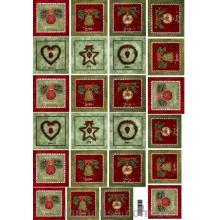 Декупажная карта Рождественские открытки - самые красивые карты!