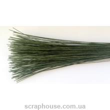 Флористическая проволока зеленая, длина 35 см, d=0,1см.