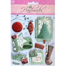 """Наклейки объемные """"Merry Cristmas"""" - 5. Лист с наклейками 11,5х15,5 см., 8 элементов."""