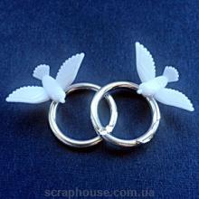 Кольца свадебные с голубочками