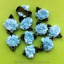 Розы пышные голубые