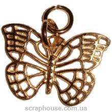 Металлическая подвеска бабочка золотая
