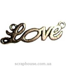 Металлическое украшение надпись Love
