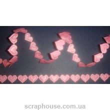 Бордюрная лента Розовые сердечки