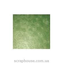 """Картон дизайнерский """"Flower Brocade metallic"""" Folia зеленый"""