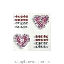 Стразы-стикеры на клеевой основе Сердечки
