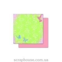 """Бумага для скрапбукинга Folia мотив """"Цветы-3"""""""