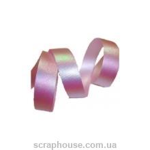 Лента розовая с блестящим перламутровым отливом