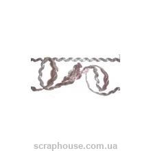 Тесьма волнистая серебряная