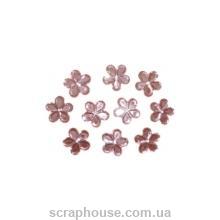 Стразы Цветочки розовые