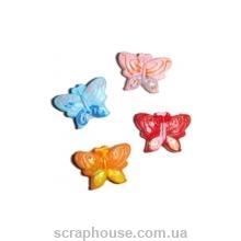 Декоративные керамические аппликации Бабочки маленькие разноцветные