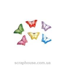 Керамические аппликации Бабочки разноцветные