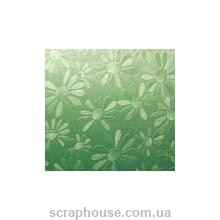 "Картон дизайнерский ""Marguerite metallic"" Folia зеленый"