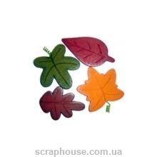 Листики осенние, разноцветные