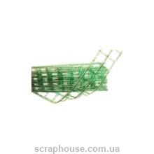 Лента-сетка блестящая зеленая