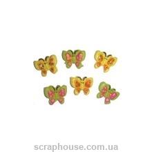 Бабочки маленькие, желтые и зеленые