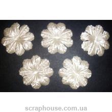 Цветы для скрапбукинга зефир Белый