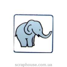 Штамп резиновый Слоник