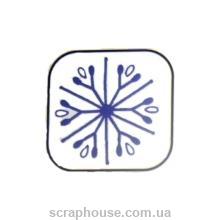 Штамп резиновый Снежинка