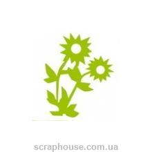 Штамп резиновый Цветы