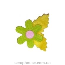 Аппликация из фетра Ромашка салатовая