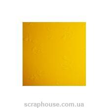 "Эмбоссированный картон ""Розочки"" желтый"