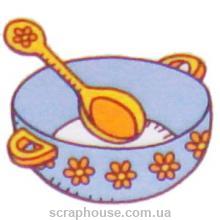 Штамп резиновый Тарелочка, р-р 2,0х2,0 см