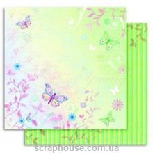 """Бумага для скрапбукинга Folia мотив """"Цветы"""" Лето Бабочки"""