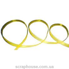 Лента из органзы лимонно-желтая ширина 0,6 см