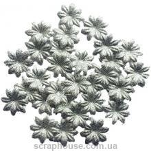 Цветочки маленькие серебристые