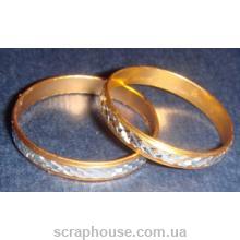Металлические декоративные свадебные кольца