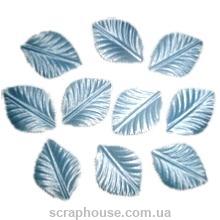 Листики голубые текстильные