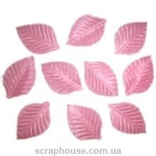 Листики розовые текстильные